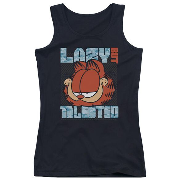 Garfield Lazy But Talented Juniors Tank Top