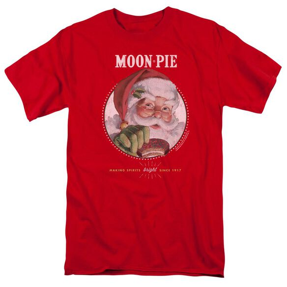 Moon Pie Snacks For Santa Short Sleeve Adult Red T-Shirt
