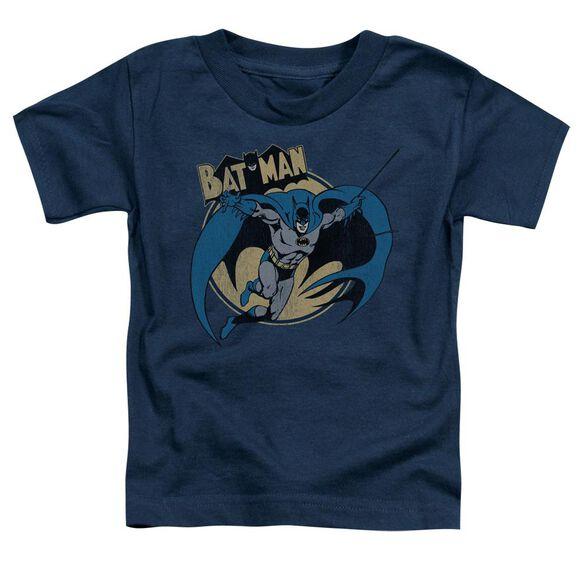 Batman Through The Night Short Sleeve Toddler Tee Navy Sm T-Shirt