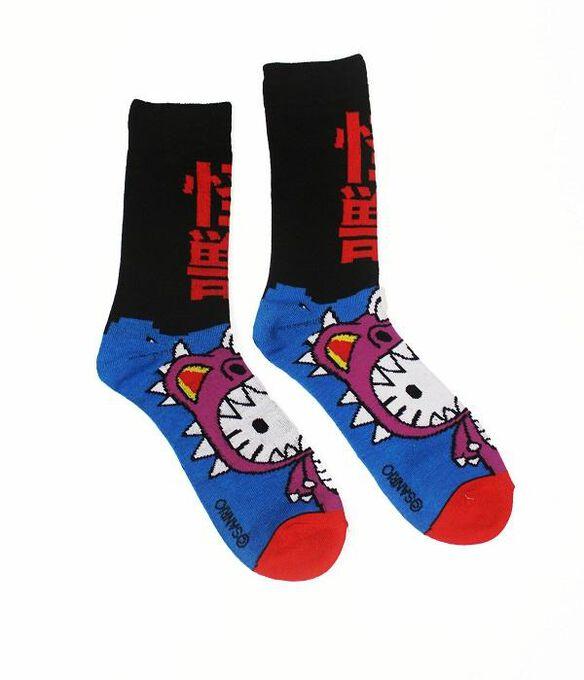 Hello Kitty Kaiju Dino Socks