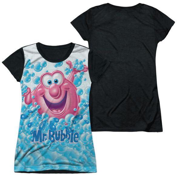 Mr Bubble Clean Sweep Short Sleeve Junior Poly Black Back T-Shirt