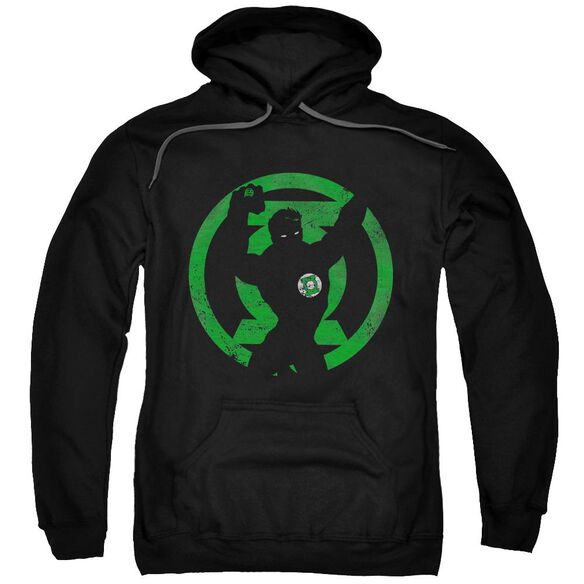 Dc Gl Symbol Knockout Adult Pull Over Hoodie Black