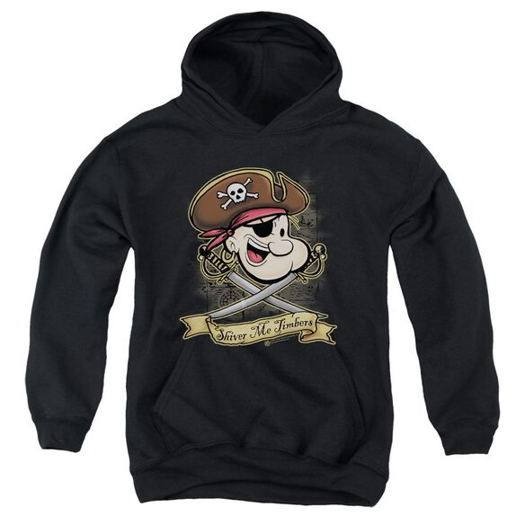 Popeye Shiver Me Timbers Youth Pull Over Hoodie