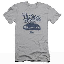 BACK TO THE FUTURE GIGAWATTS - S/S ADULT 30/1 - SILVER - 2X - SILVER T-Shirt