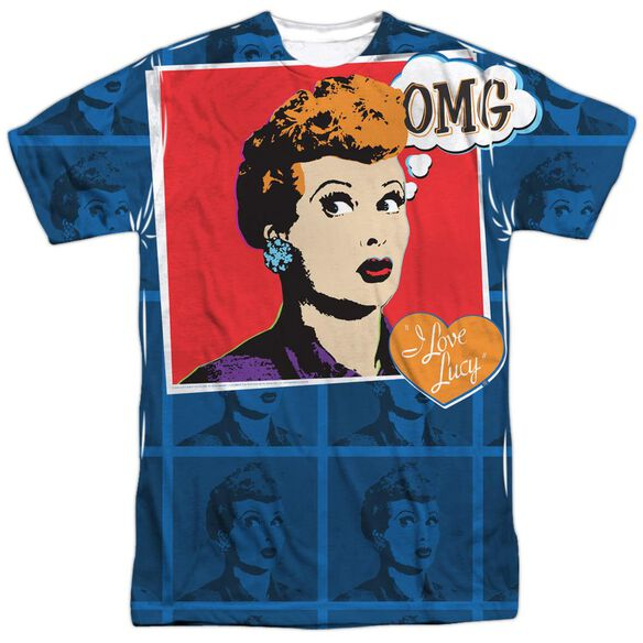 I Love Lucy Omg Short Sleeve Adult Poly Crew T-Shirt