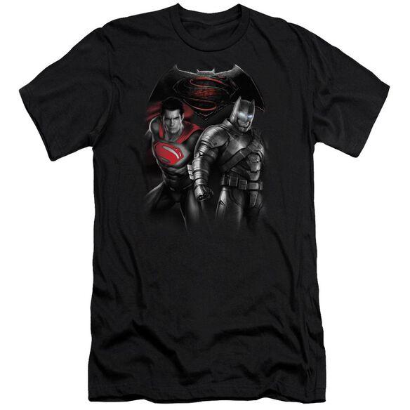 Batman V Superman Stand Off Short Sleeve Adult T-Shirt