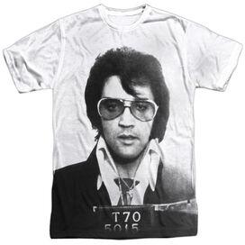 Elvis Mugshot Short Sleeve Adult Poly Crew T-Shirt