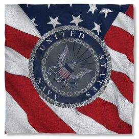 Navy Flag Seal Bandana White