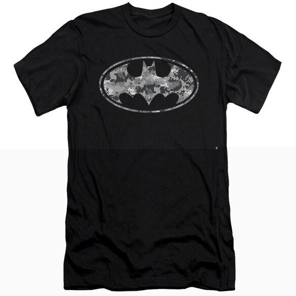 BATMAN URBAN CAMO SHIELD - S/S ADULT 30/1 - BLACK T-Shirt