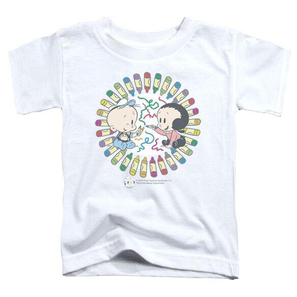 Popeye Fun With Crayons Short Sleeve Toddler Tee White Sm T-Shirt