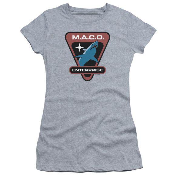 Star Trek Maco Patch Hbo Short Sleeve Junior Sheer Athletic T-Shirt