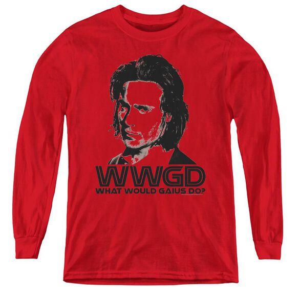 Bsg Wwgd - Youth Long Sleeve Tee - Red