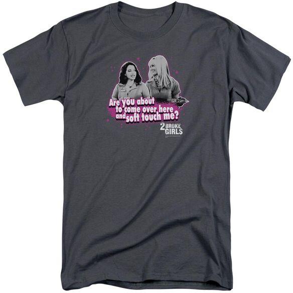 2 Broke Girls Soft Touch Short Sleeve Adult Tall T-Shirt