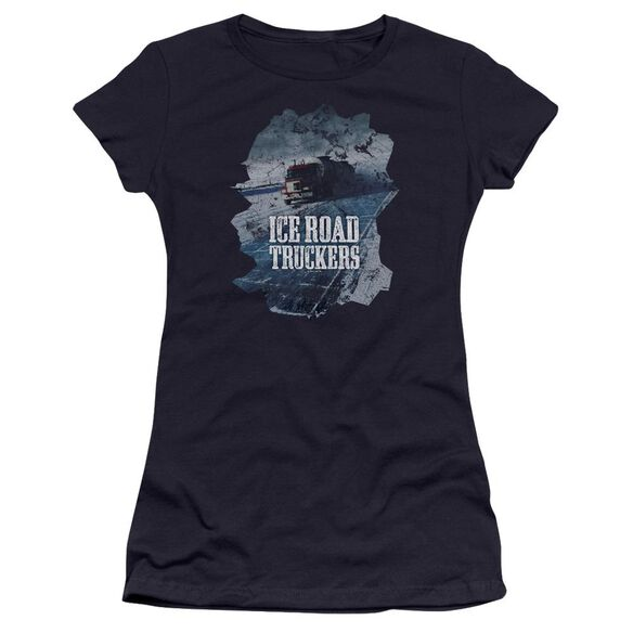 Ice Road Truckers Ice Road Hbo Short Sleeve Junior Sheer T-Shirt