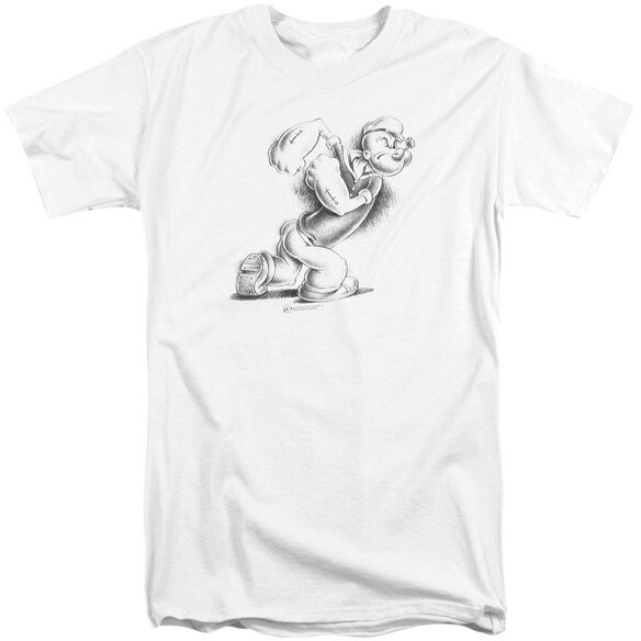 Popeye Here Comes Trouble Short Sleeve Adult Tall T-Shirt
