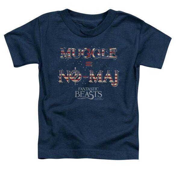 Fantastic Beasts Uk Us No Maj Short Sleeve Toddler Tee Navy T-Shirt