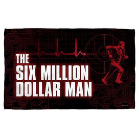 Six Million Dollar Man Logo Golf Towel W Grommet