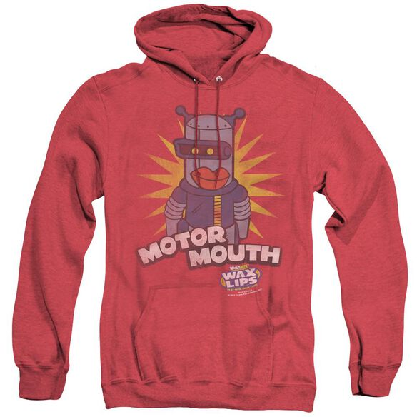 Dubble Bubble Motor Mouth - Adult Heather Hoodie - Red