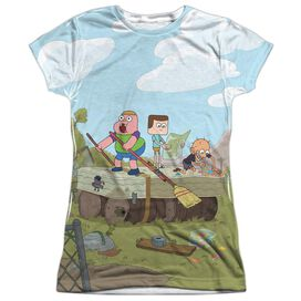 Clarence Boat Short Sleeve Junior Poly Crew T-Shirt
