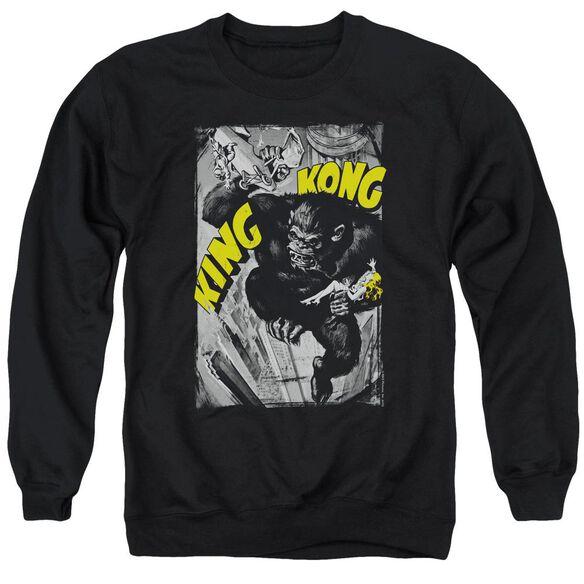King Kong Crushing Poster Adult Crewneck Sweatshirt