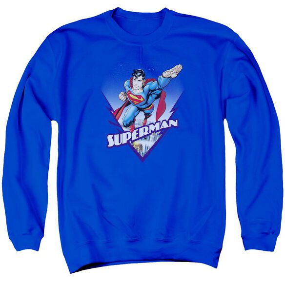 Superman Looks Like A Job For Adult Crewneck Sweatshirt Royal