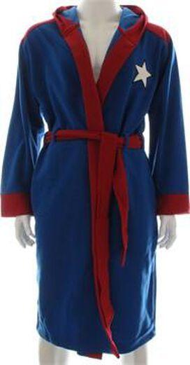 Captain America Costume Hooded Fleece Robe