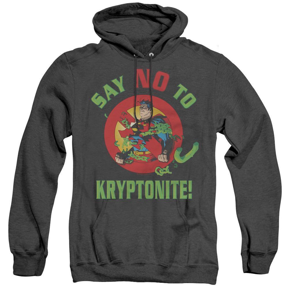 Superman Say No To Kryptonite - Adult Heather Hoodie ...