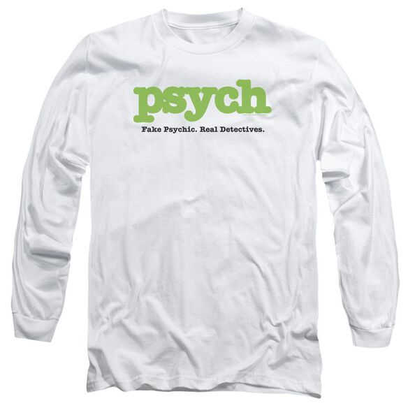 Psych Title Long Sleeve Adult T-Shirt