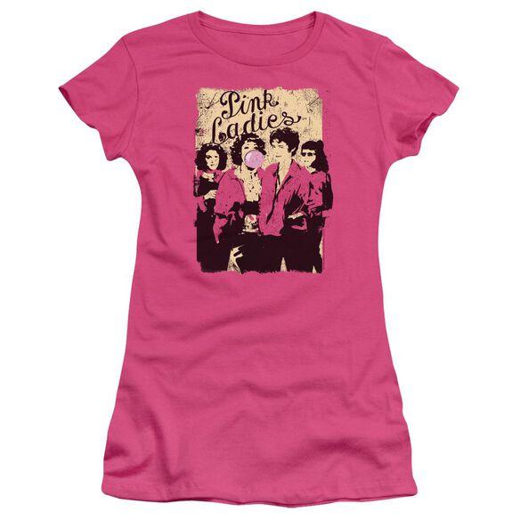 Grease Ladies Short Sleeve Junior Sheer Hot T-Shirt