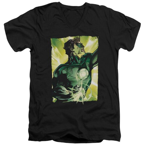 Green Lantern Up Up Short Sleeve Adult V Neck T-Shirt