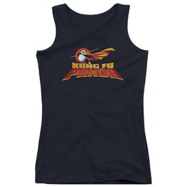 Kung Fu Panda Logo - Juniors Tank Top - Black
