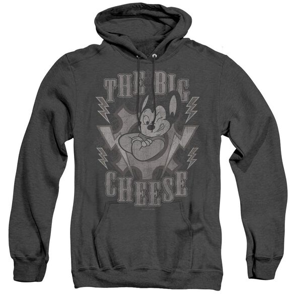 Mighty Mouse The Big Cheese - Adult Heather Hoodie - Black