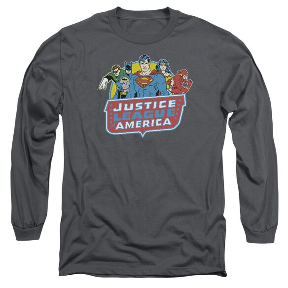 Dc 8 Bit League Long Sleeve Adult T-Shirt