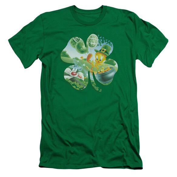 Looney Tunes Tweety Shamrock Short Sleeve Adult Kelly T-Shirt
