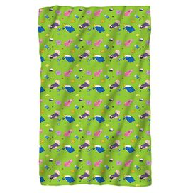 Adventure Time Green Fields Fleece Blanket