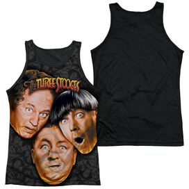 Three Stooges Stooges All Over Adult Poly Tank Top Black Back