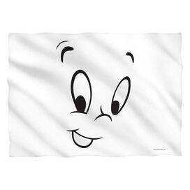 Casper The Friendly Ghost Face (Front Back Print) Pillow Case White
