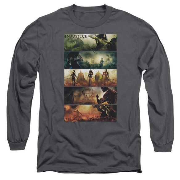 Injustice Gods Among Us Panels Long Sleeve Adult T-Shirt