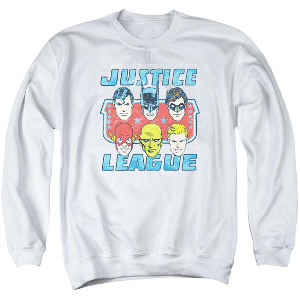 Dc Faces Of Justice Adult Crewneck Sweatshirt