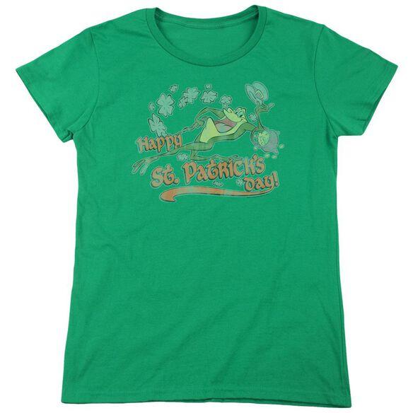 Looney Tunes Michigan J Short Sleeve Womens Tee Kelly T-Shirt