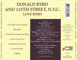 Donald Byrd and 125th Street, N.Y.C. - Love Byrd