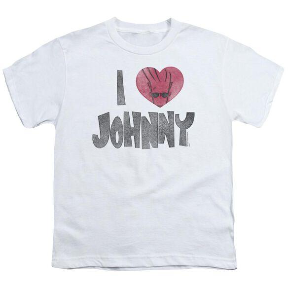 Johnny Bravo I Heart Johnny Short Sleeve Youth T-Shirt