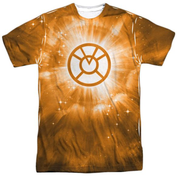 Green Lantern Orange Energy Short Sleeve Adult 100% Poly Crew T-Shirt