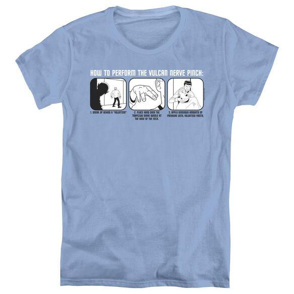 ST:ORIGINAL VULCAN NERVE PINCH - S/S WOMENS TEE - CAROLINA BLUE T-Shirt