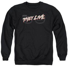 They Live Glasses Logo Adult Crewneck Sweatshirt
