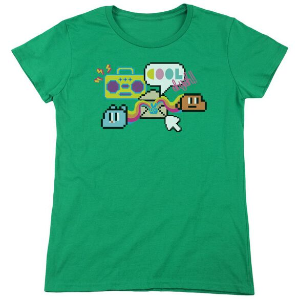 Amazing World Of Gumball Cool Oh Yeah Short Sleeve Womens Tee Kelly T-Shirt