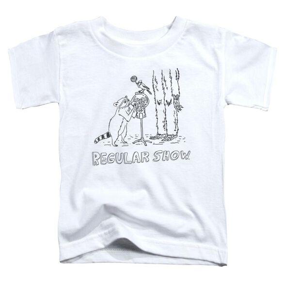 The Regular Show Tattoo Art Short Sleeve Toddler Tee White T-Shirt