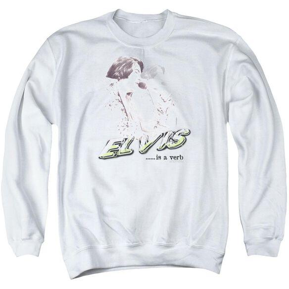 Elvis Elvis Is A Verb Adult Crewneck Sweatshirt