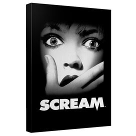 Scream Poster Canvas Wall Art With Back Board