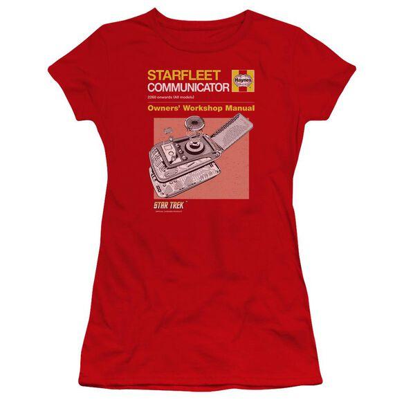 Star Trek Comm Manual Premium Bella Junior Sheer Jersey